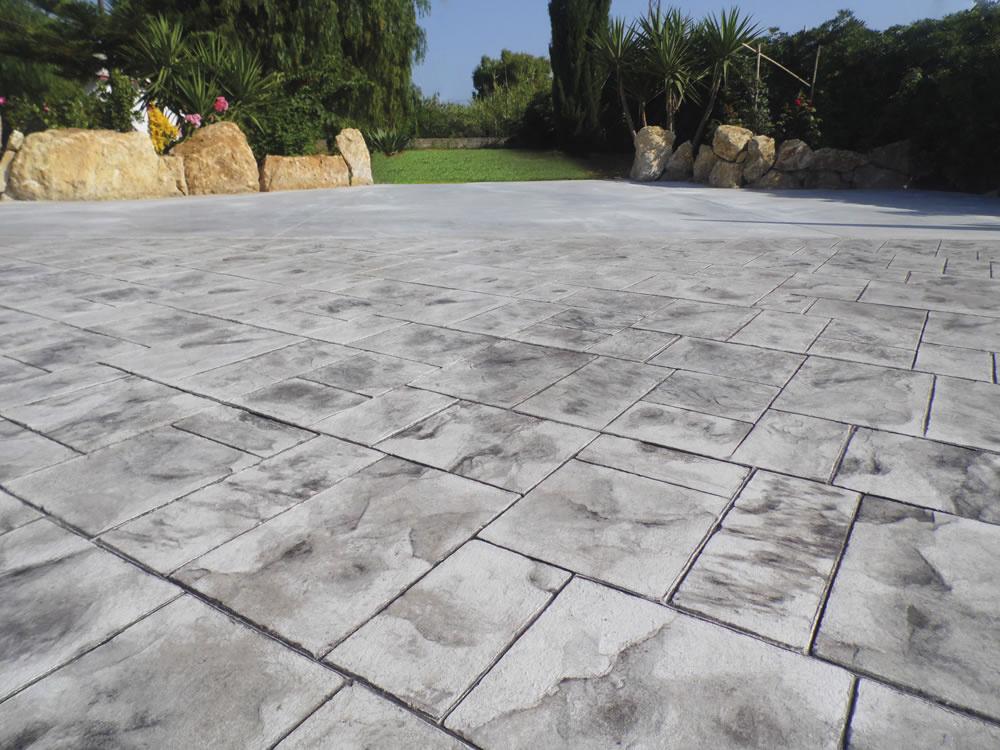 Realizzazioni pavimento stampato for Piastrelle in cemento da esterno