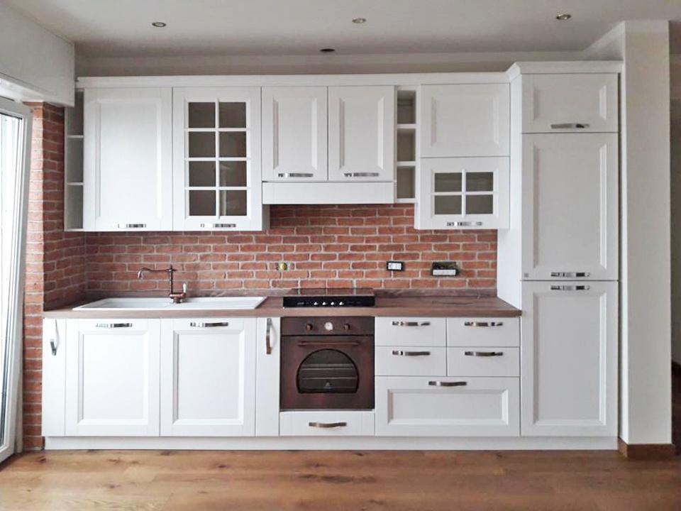 Realizzazione: parete paraschizzi per cucina in intonaco stampato ...