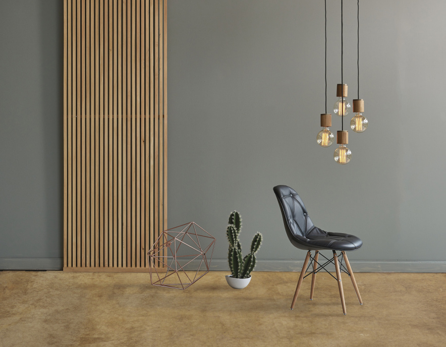 Deco Nuvolato Isoplam light gray - Plam Acid ambra