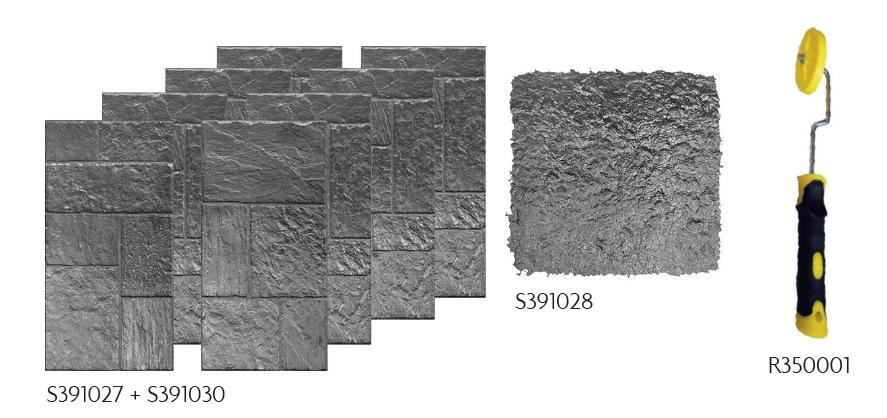 matrice pour b ton imprim effet roche. Black Bedroom Furniture Sets. Home Design Ideas